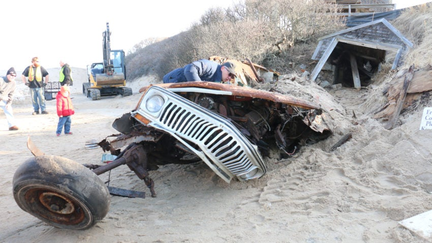 Watch the removal of a Jeep buried in a Cape Cod sand dune for 40 years