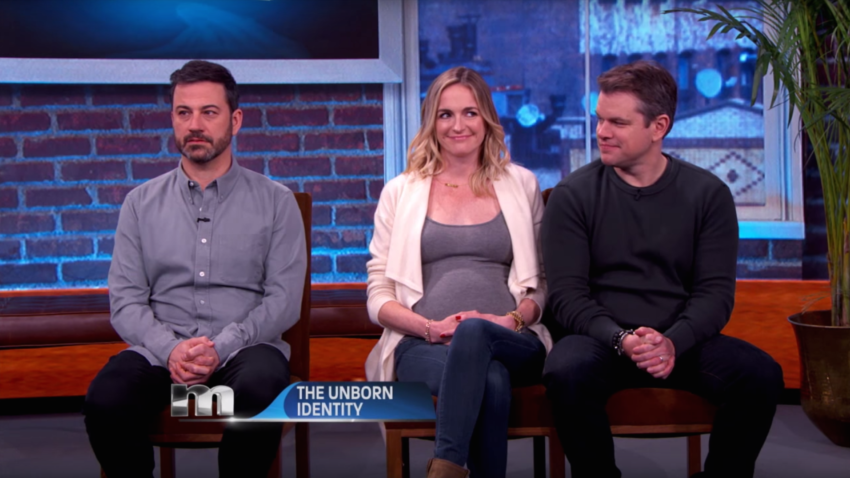 Matt Damon Claims He's The Father Of Jimmy Kimmel's Unborn ...