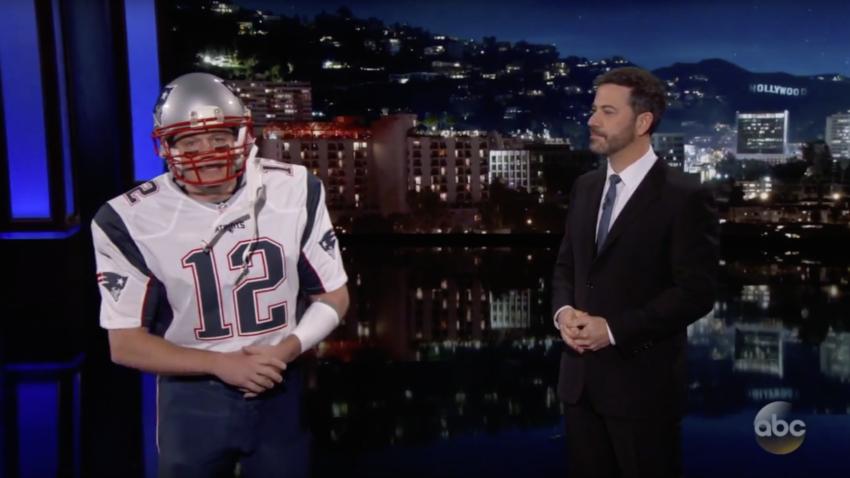 Matt Damon Dressed As Tom Brady And Snuck Onto Jimmy