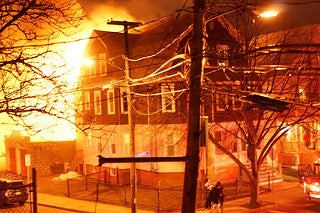 A 3-alarm fire at a home in Somerville.