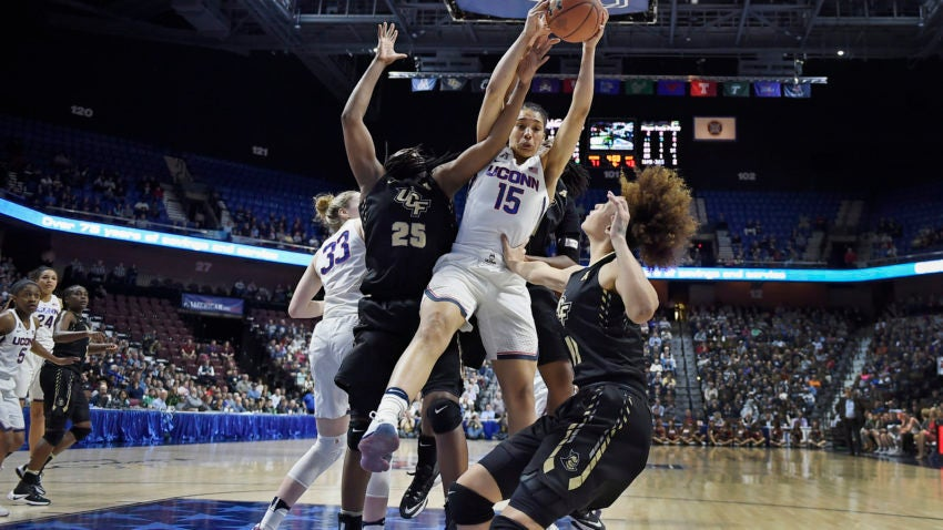 UConn beats UCF in AAC semifinal for 106th straight win