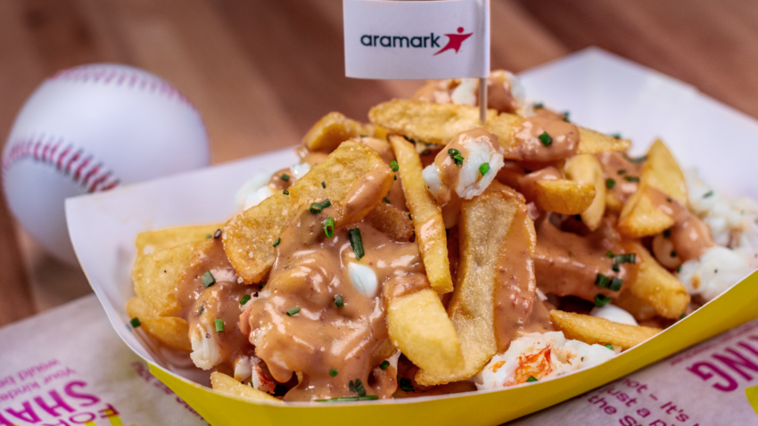 What's the new ballpark food at Fenway Park this year? Lobster poutine.
