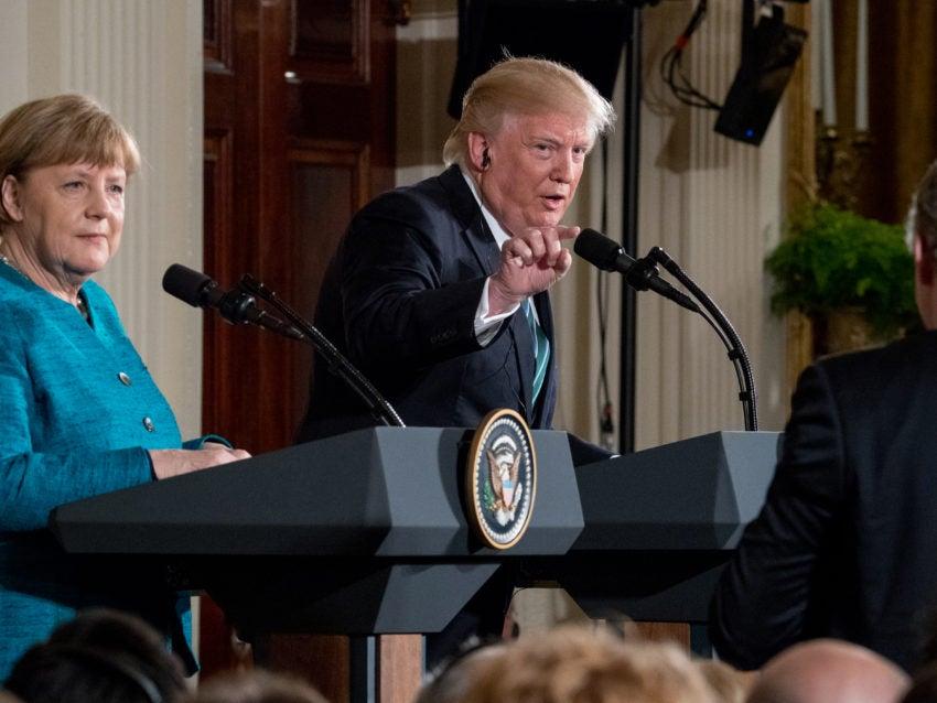 Trump sidesteps blame over