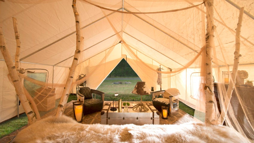 Best Used Family Car >> Sleep in a bed, order lobster to your tent when you 'glamp ...