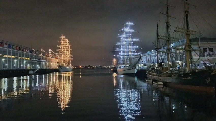 The Tall Ships Are Illuminating Boston At Night Boston Com