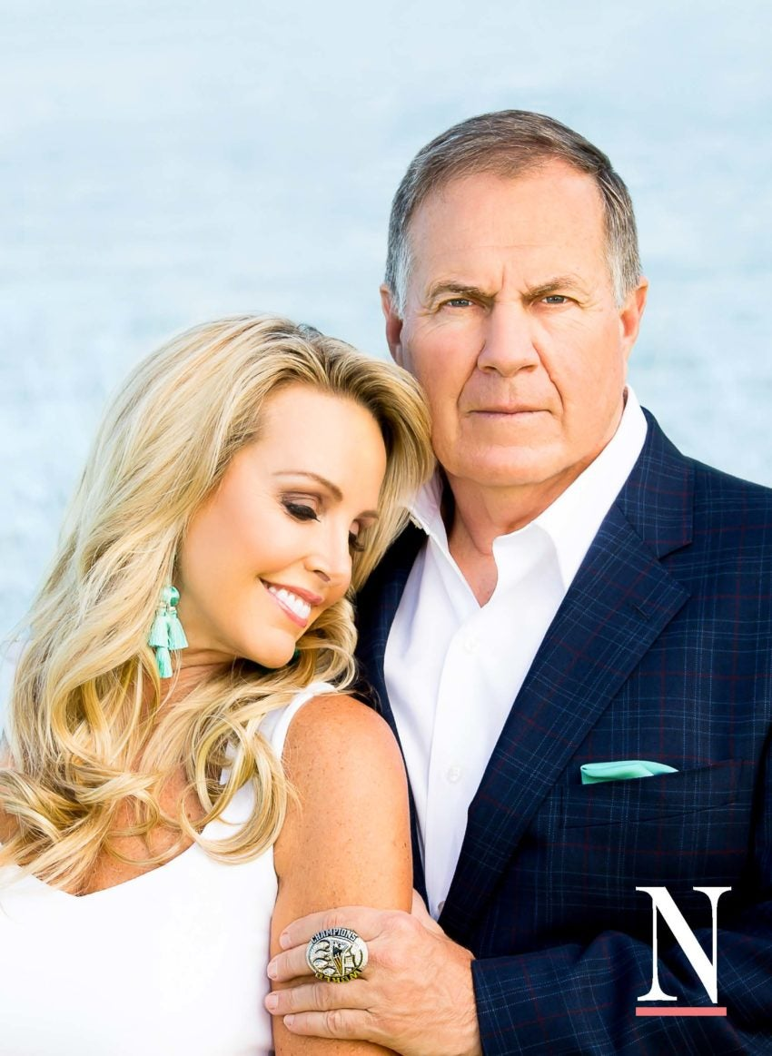 Bill Belichick and His Girlfriend Linda Holliday Wave to