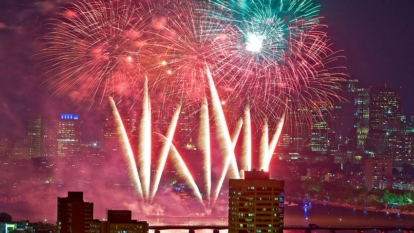 Watch Boston's 2019 fireworks show dazzle a massive crowd on the