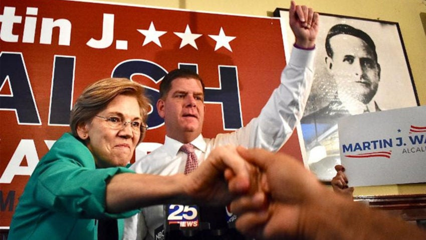 Elizabeth Warren endorses Marty Walsh in race against Tito Jackson