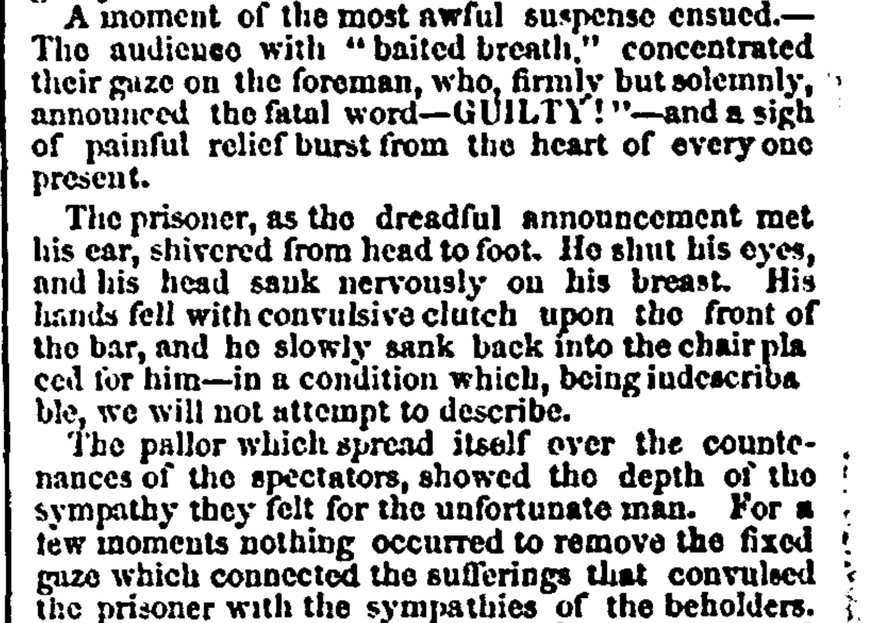 Article on Parkman Murder Trial
