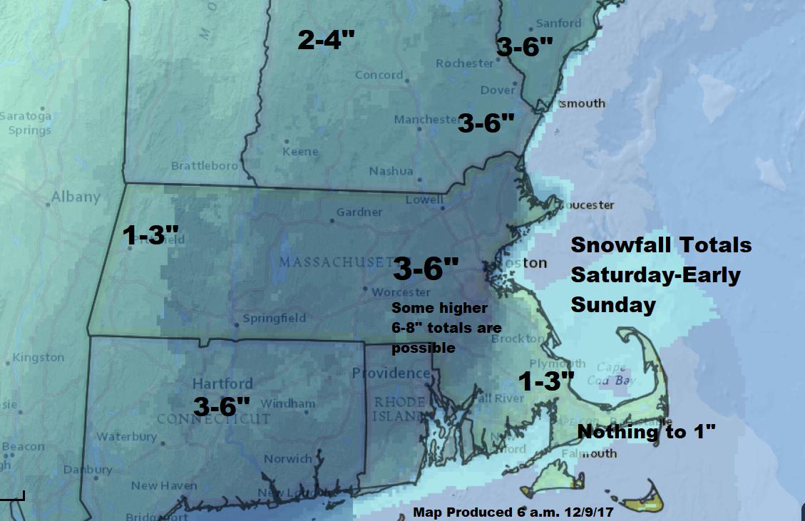 Boston Snow Forecast