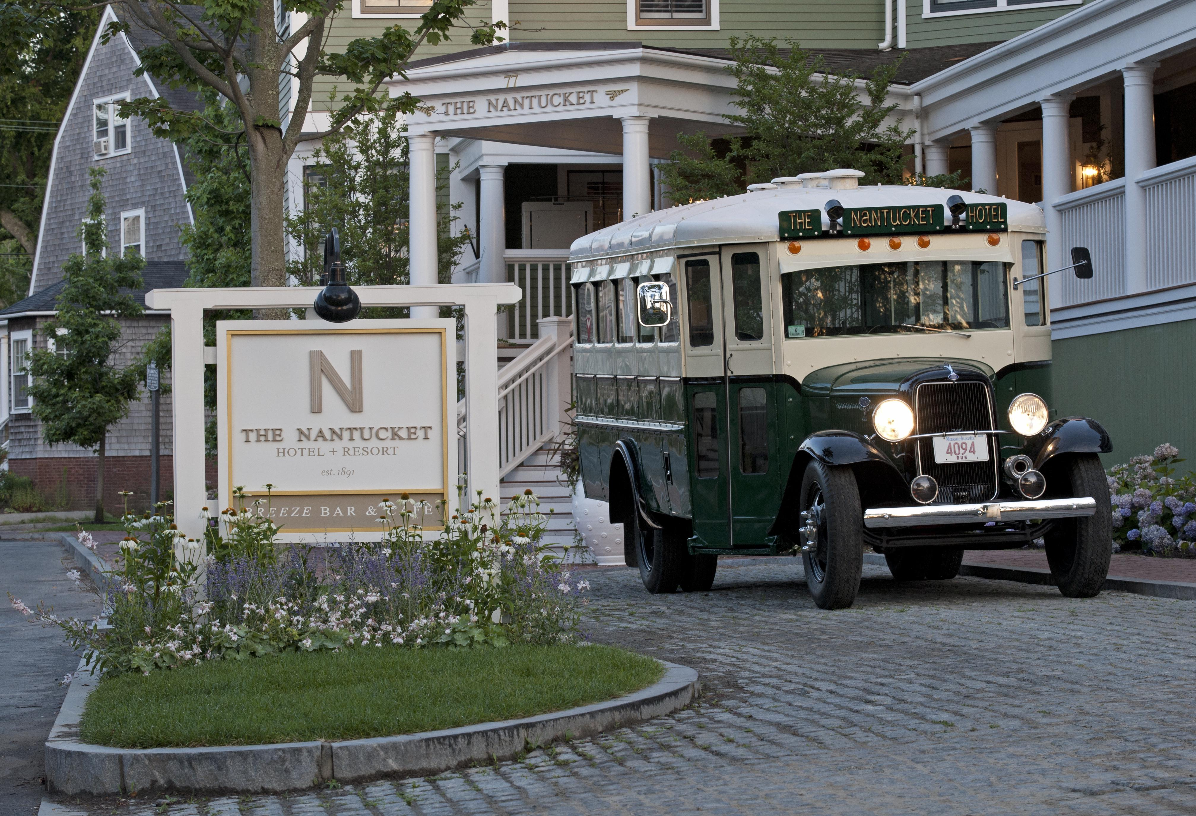 The Nantucket Hotel and Resort entrance and shuttle bus