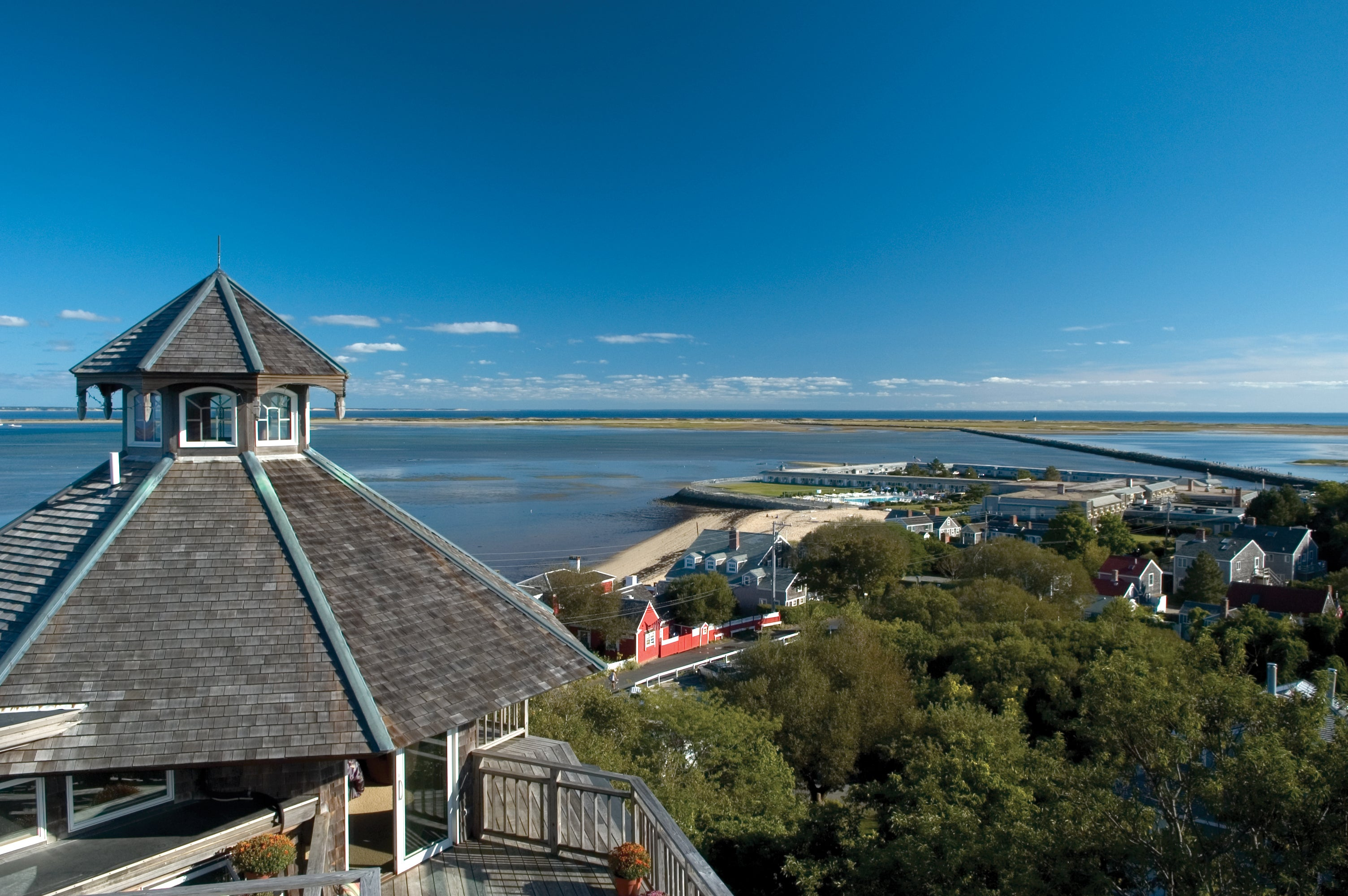The view at Land's End Inn in Provincetown