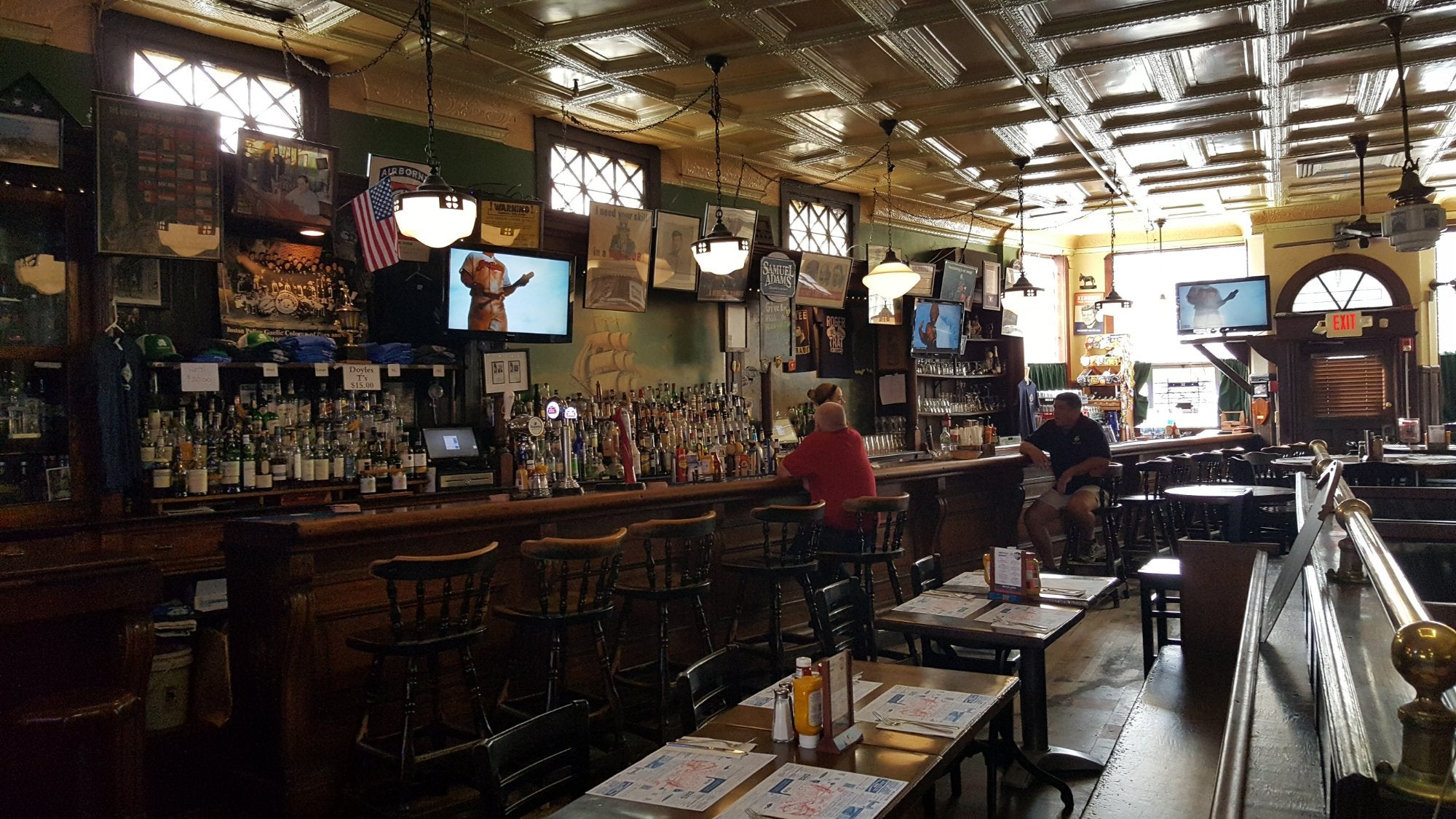 The inside of Doyle's Cafe in Boston.