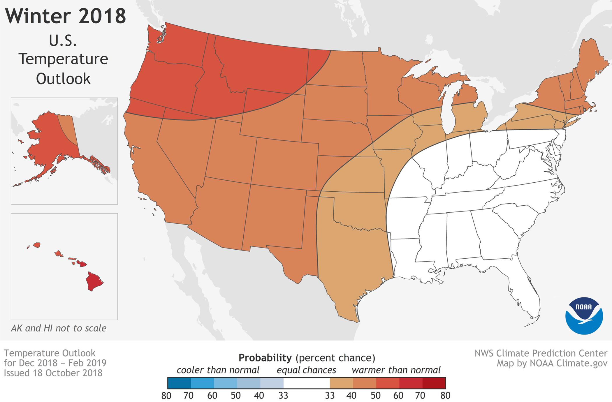Here's NOAA's 2018-2019 winter weather forecast | Boston com