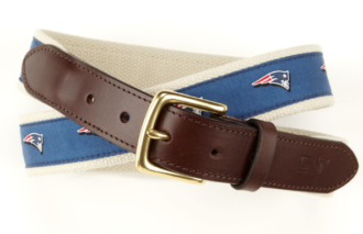 New England Patriots Canvas Club Belt