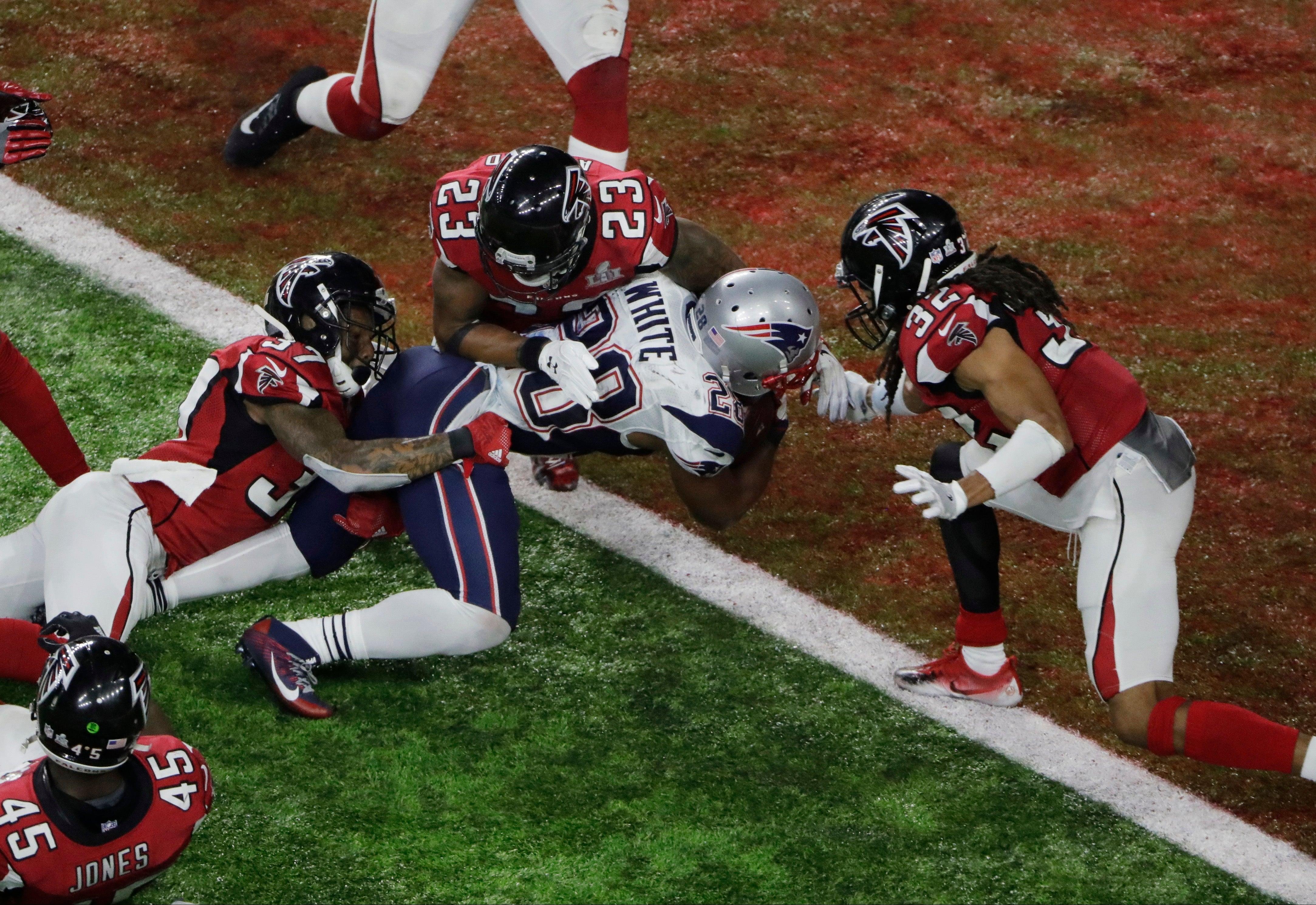 James White Patriots Falcons 28-3