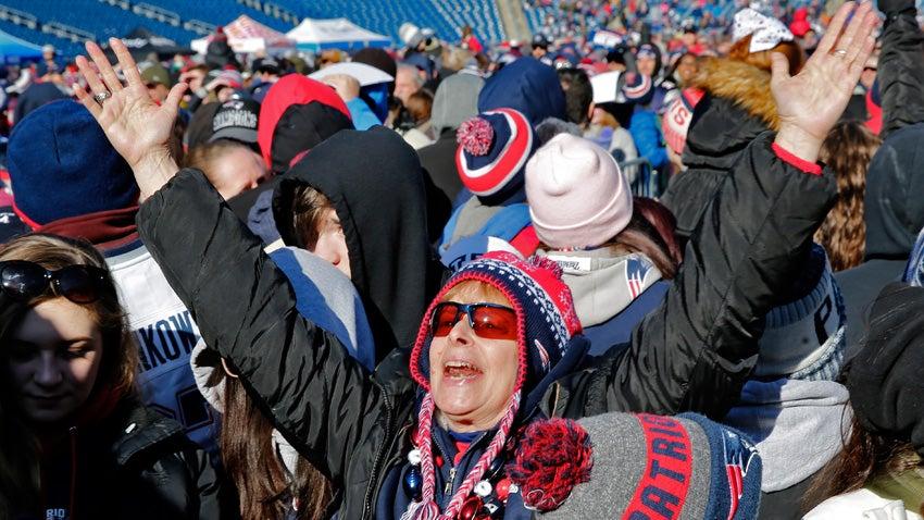 New England Patriots Super Bowl Rally