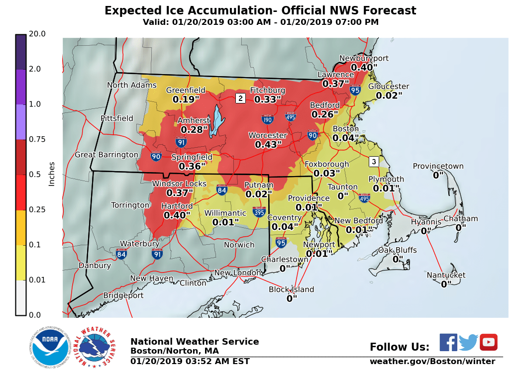ice accumulation prediction