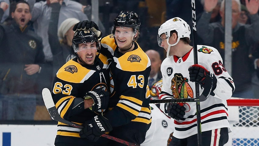 b7e219838df 3 takeaways from the Bruins  6-3 win over the Blackhawks