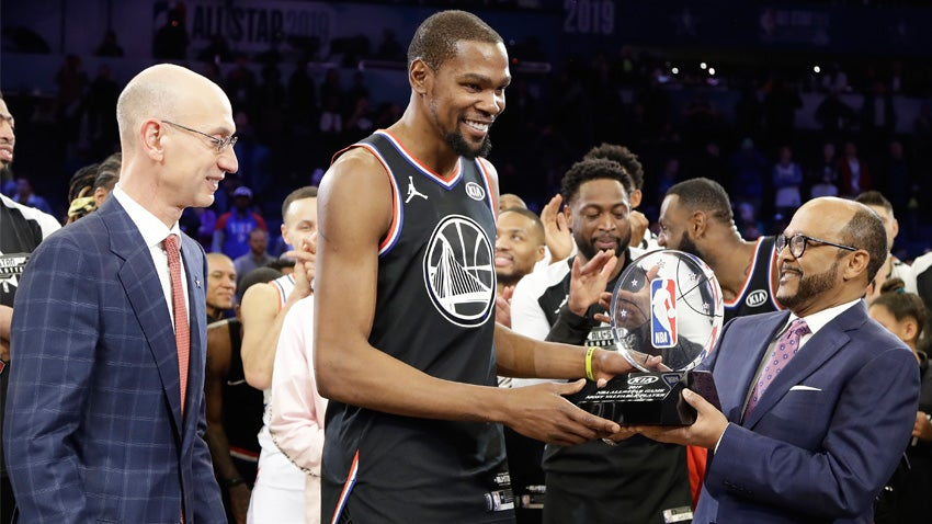 59e7411440d2 Team LeBron rallies behind MVP Kevin Durant to win NBA All-Star Game ...