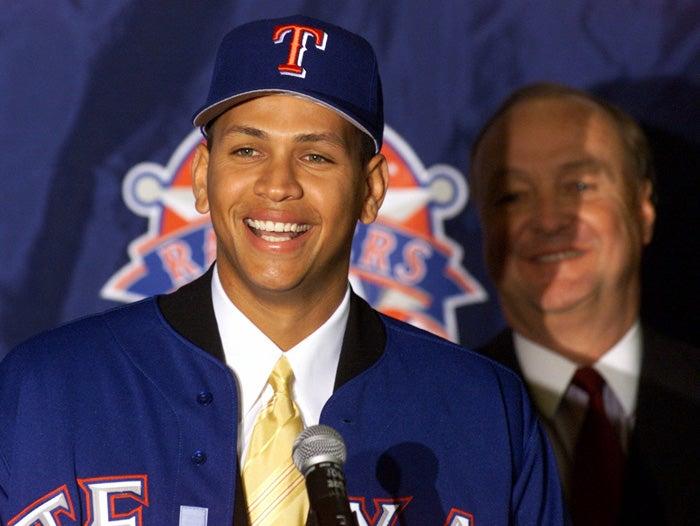 Alex Rodriguez, Tom Hicks, Texas Rangers, 2000