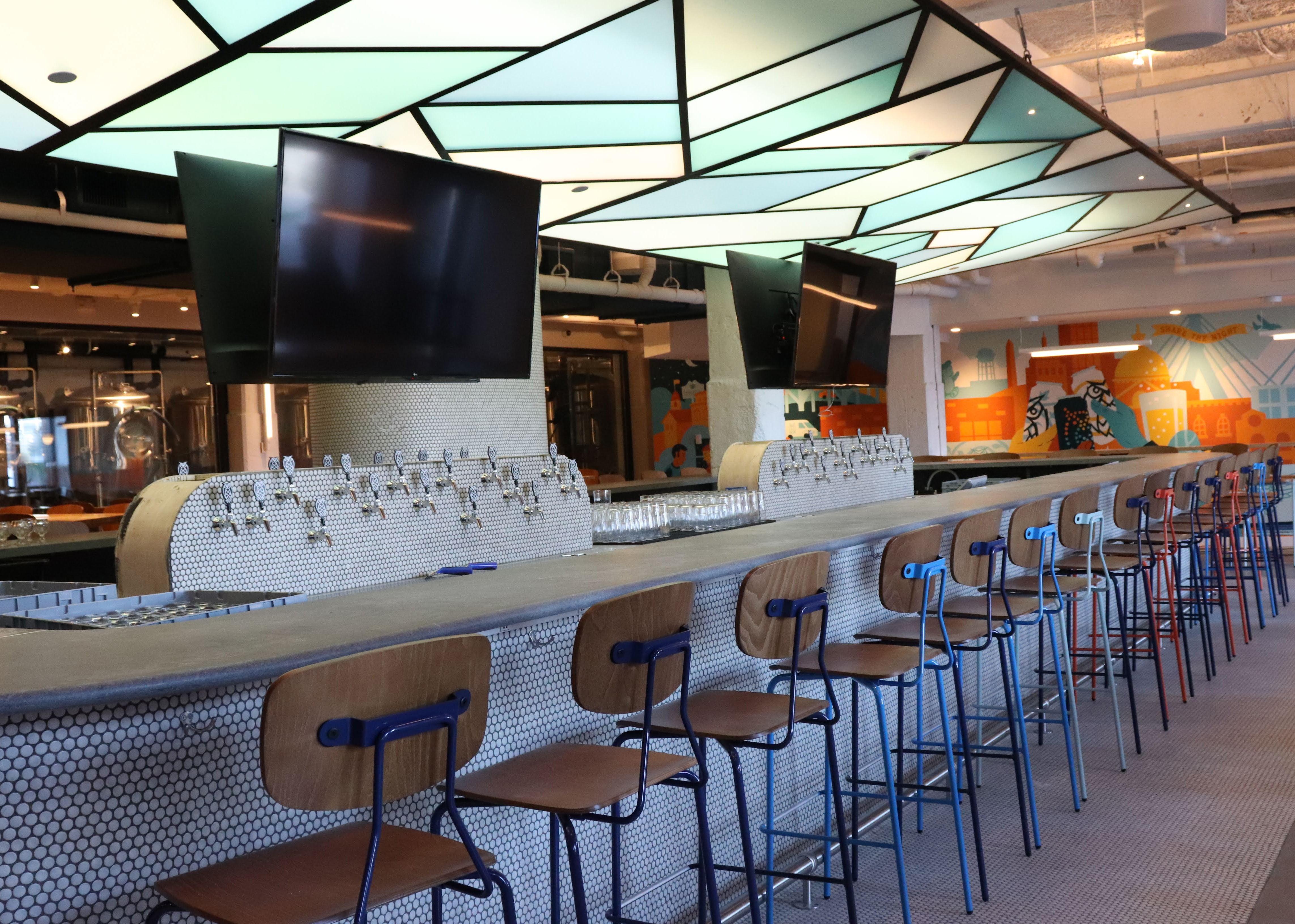 The bar at Night Shift Lovejoy Wharf