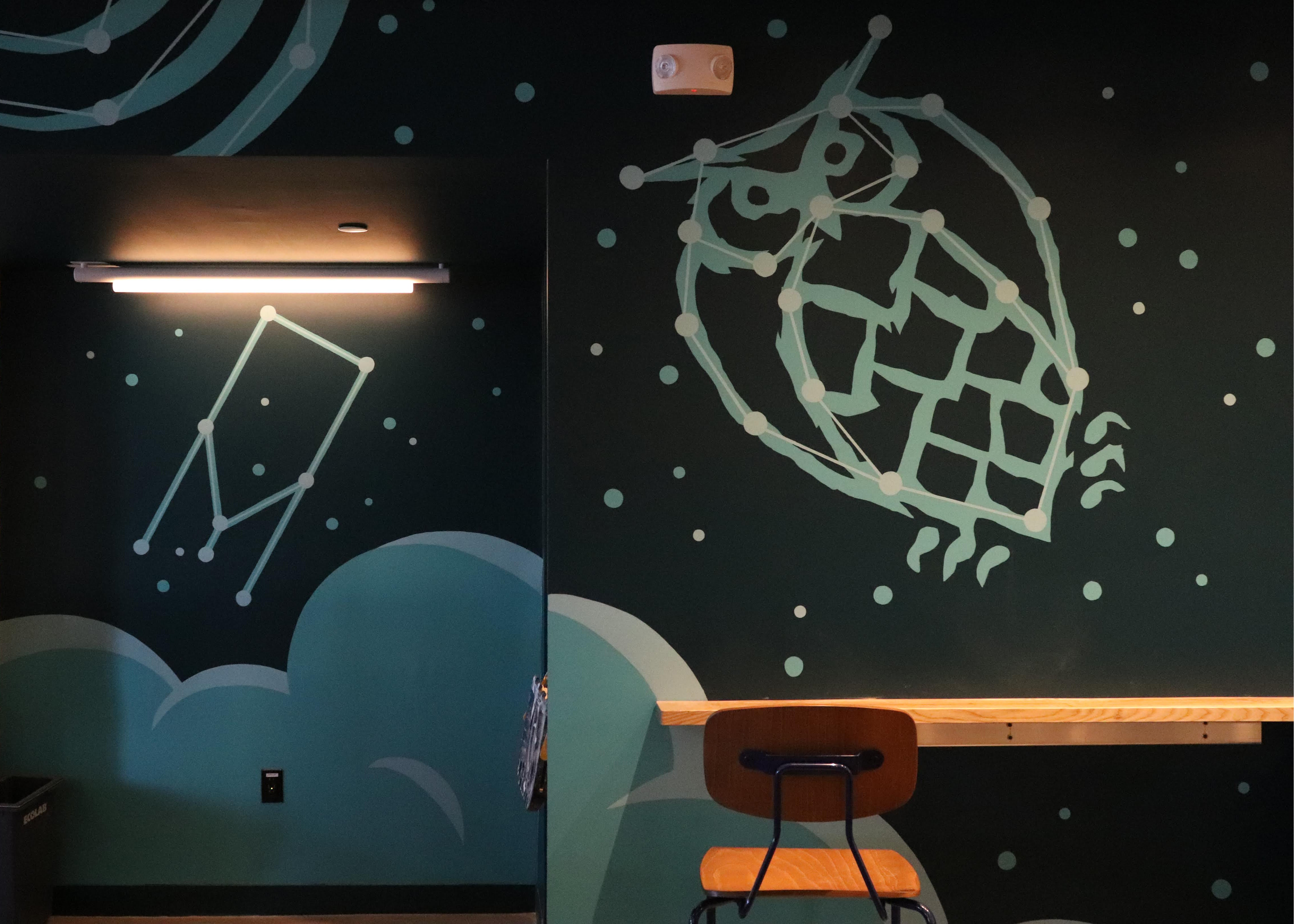 A mural painted by James Weinberg
