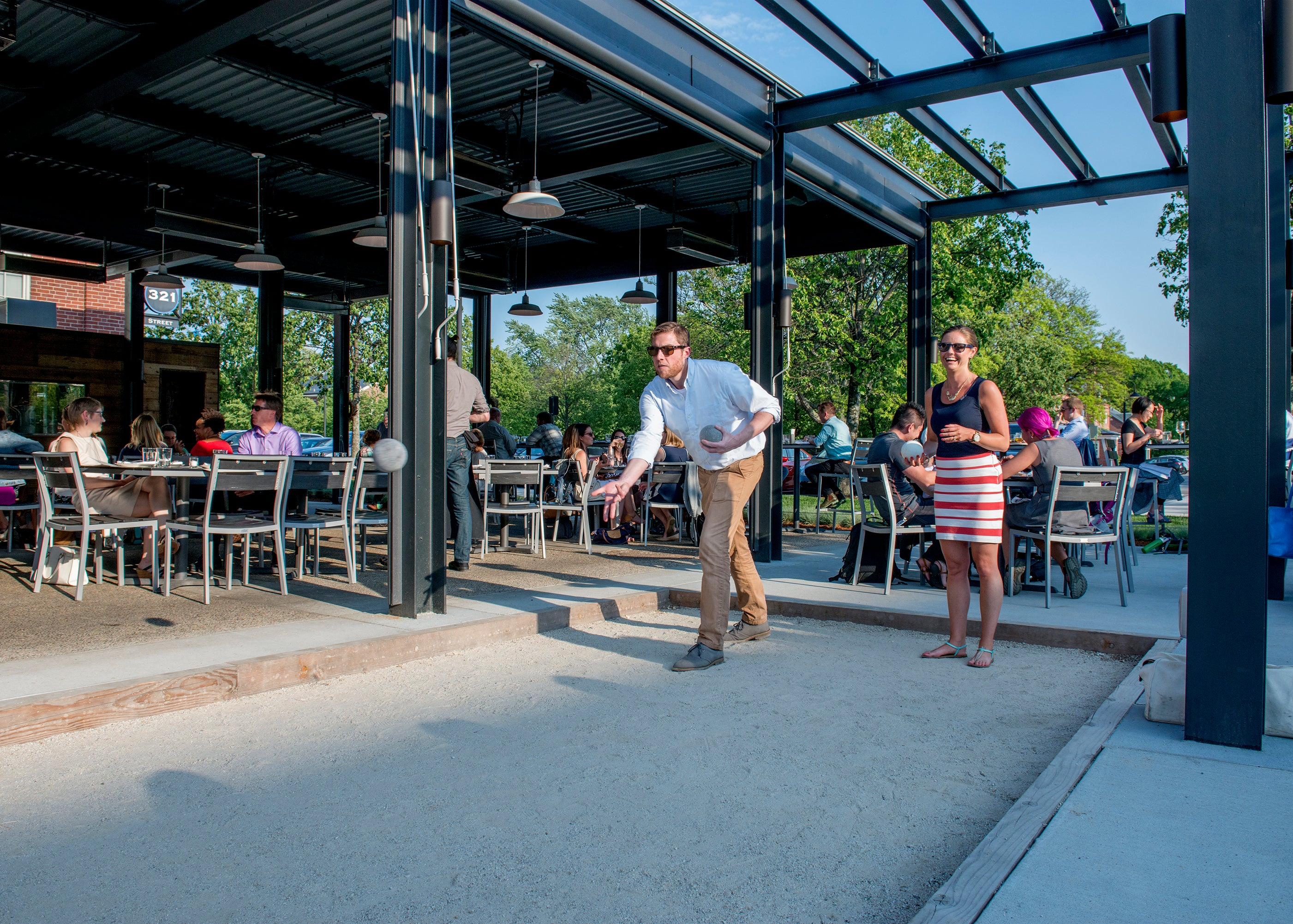 The bocce court at Branch Line