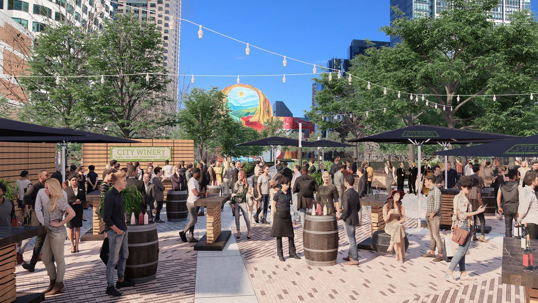 A rendering of City Winery on the Greenway