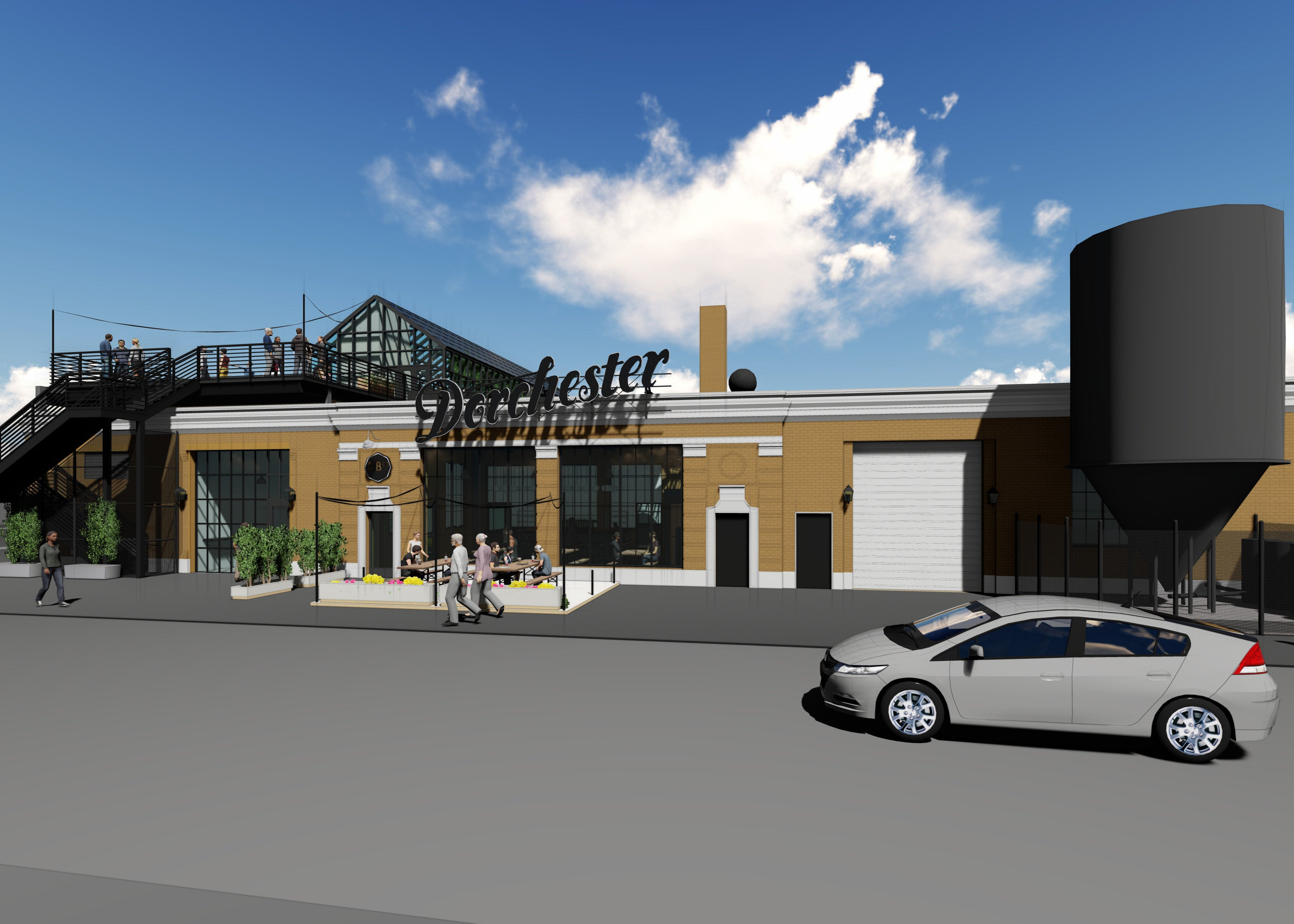 A rendering of Dorchester Brewing's expansion