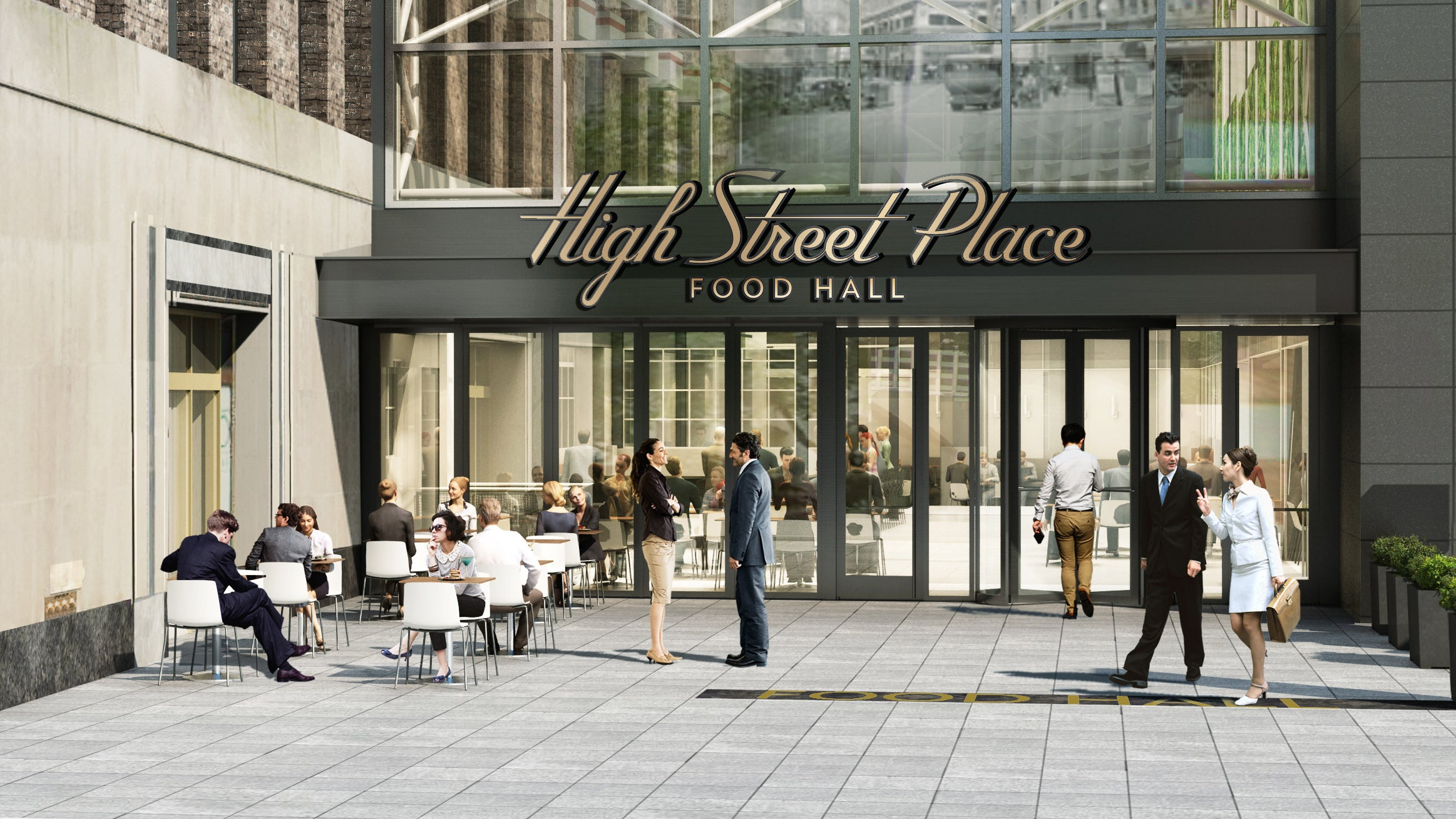 A rendering of High Street Place
