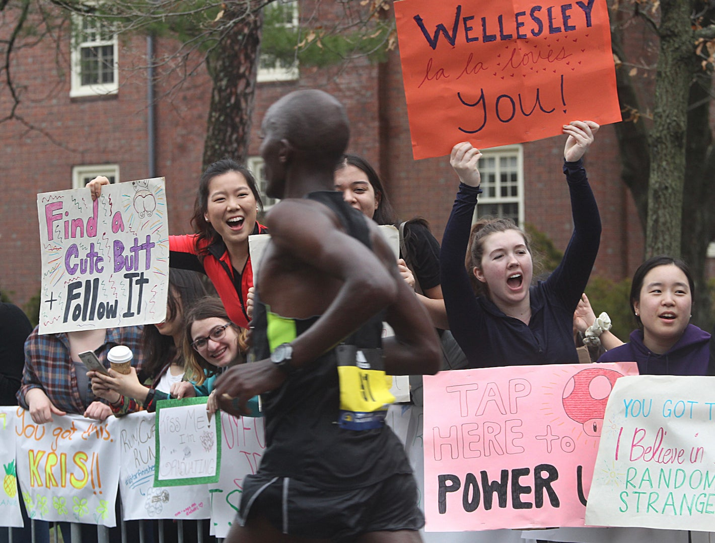 12 of the best signs spotted along the 2019 Boston Marathon