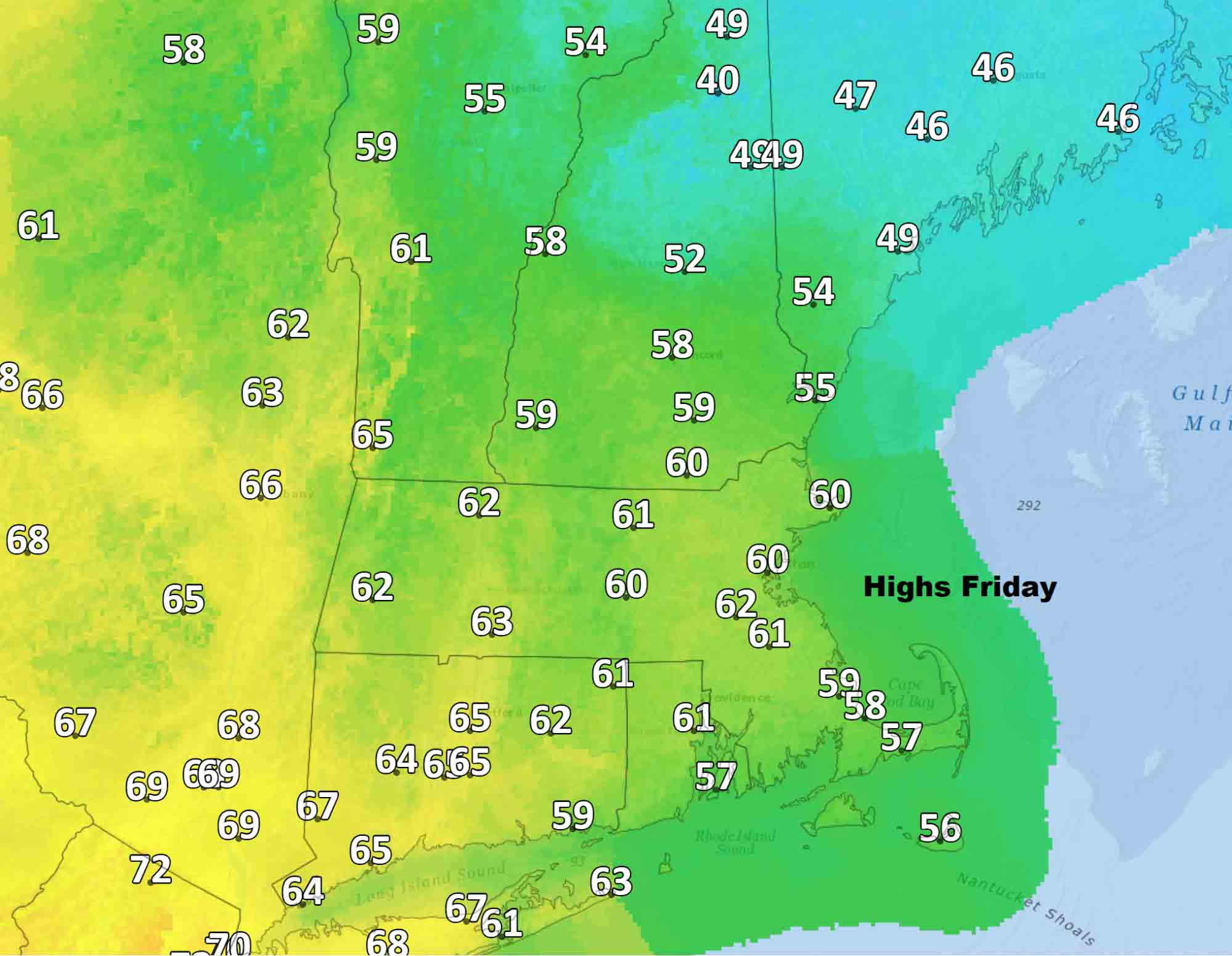 Friday temperatures