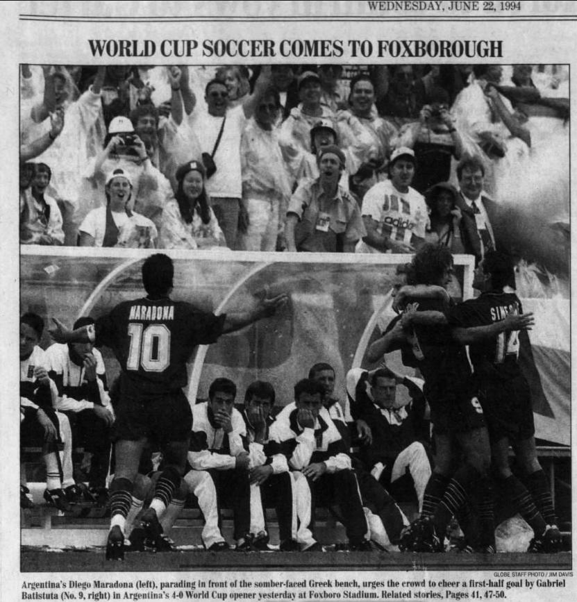 Maradona World Cup Foxboro 1994