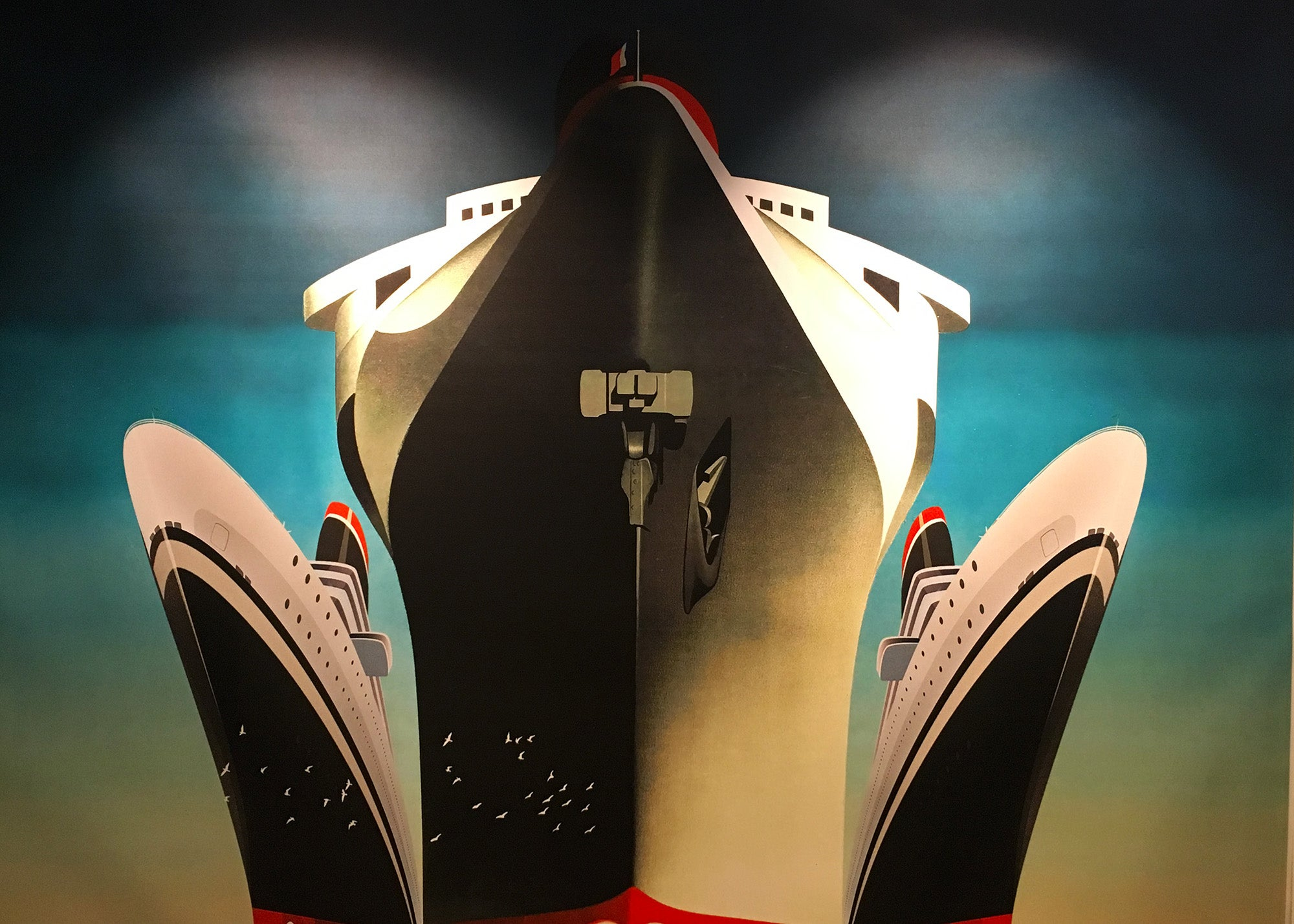 Custom artwork at The Oyster Club