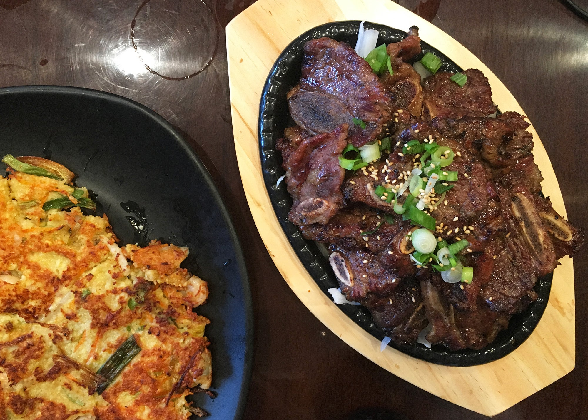 Kalbi beef ribs at Kim's Tofu