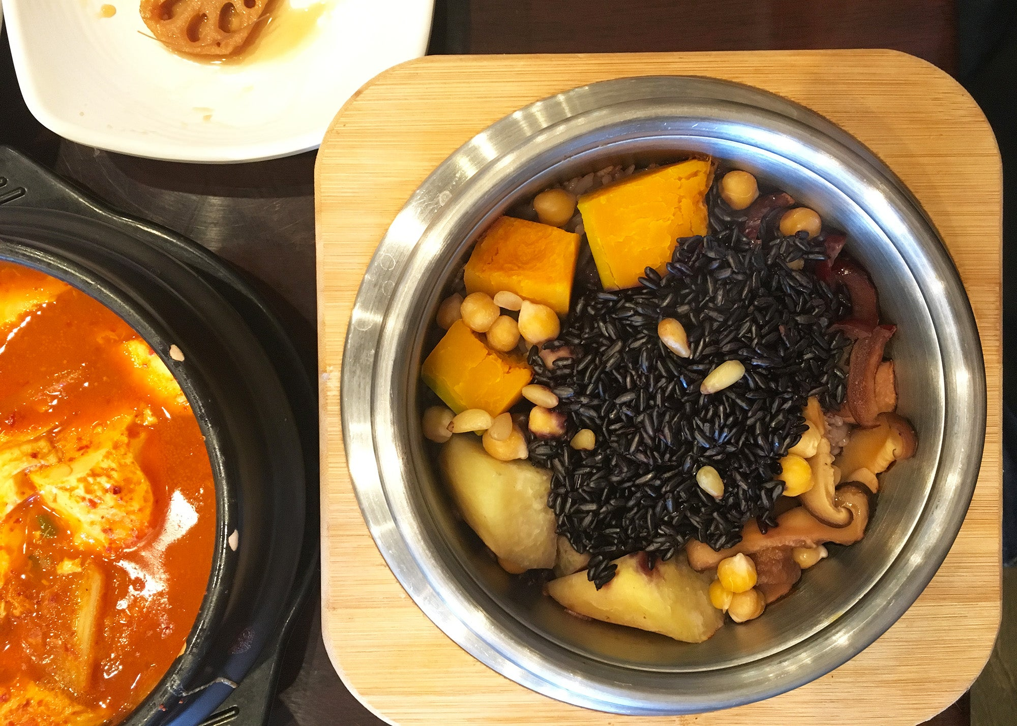 Nutritious rice at Kim's Tofu