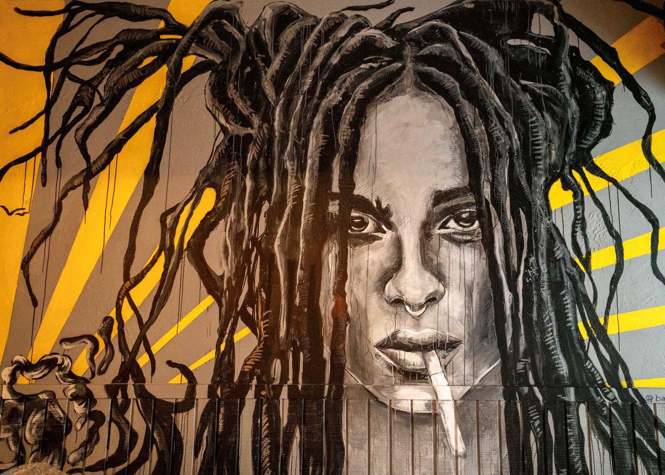 A mural at Pollo Club
