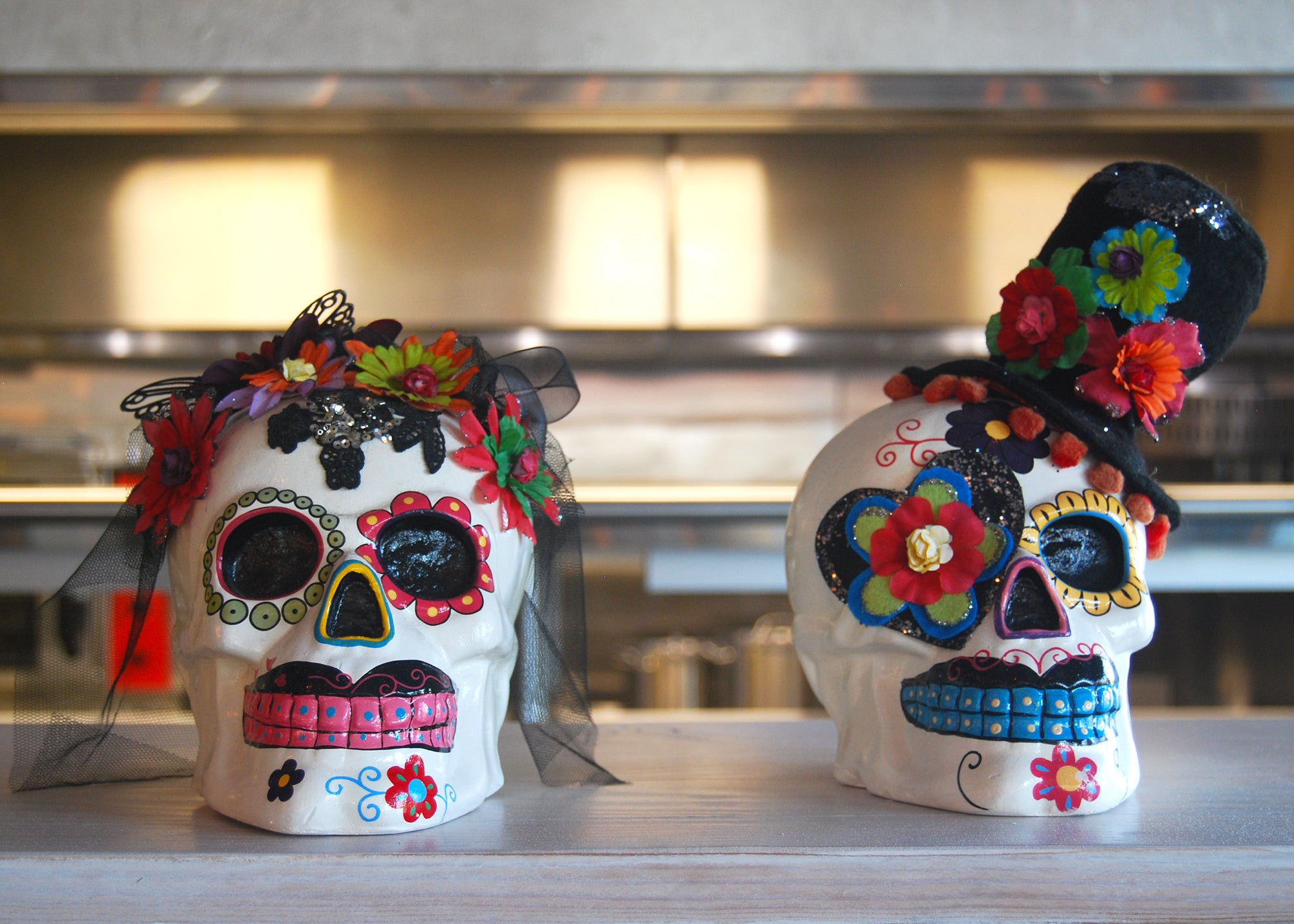 Candy skulls at Ghost Pepper Taqueria