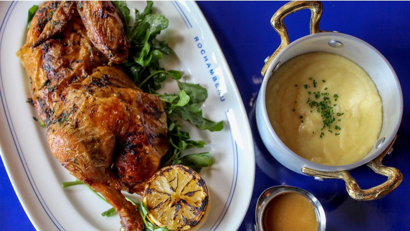 Rotisserie chicken at Rochambeau