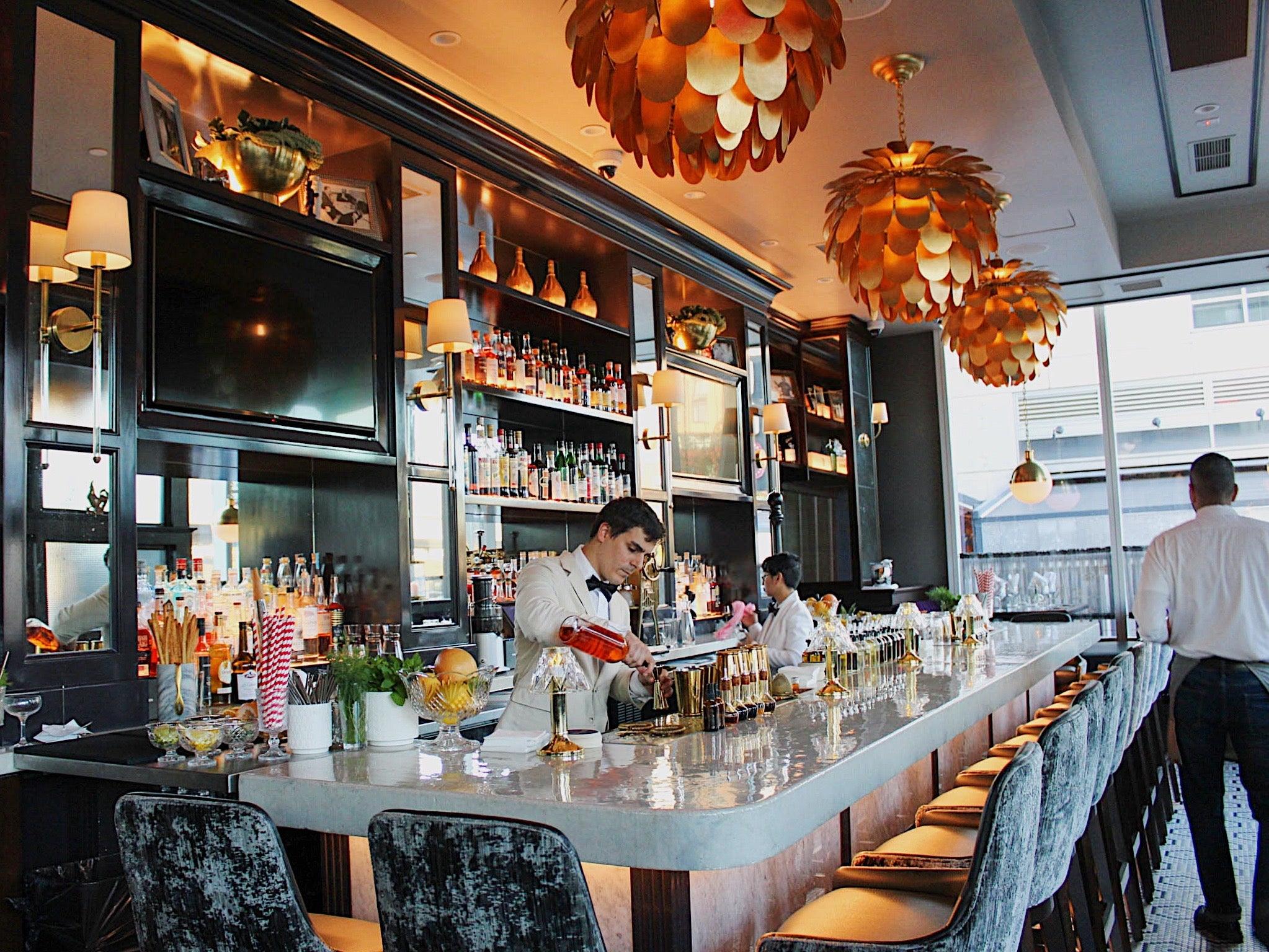 bar interior at Orfano