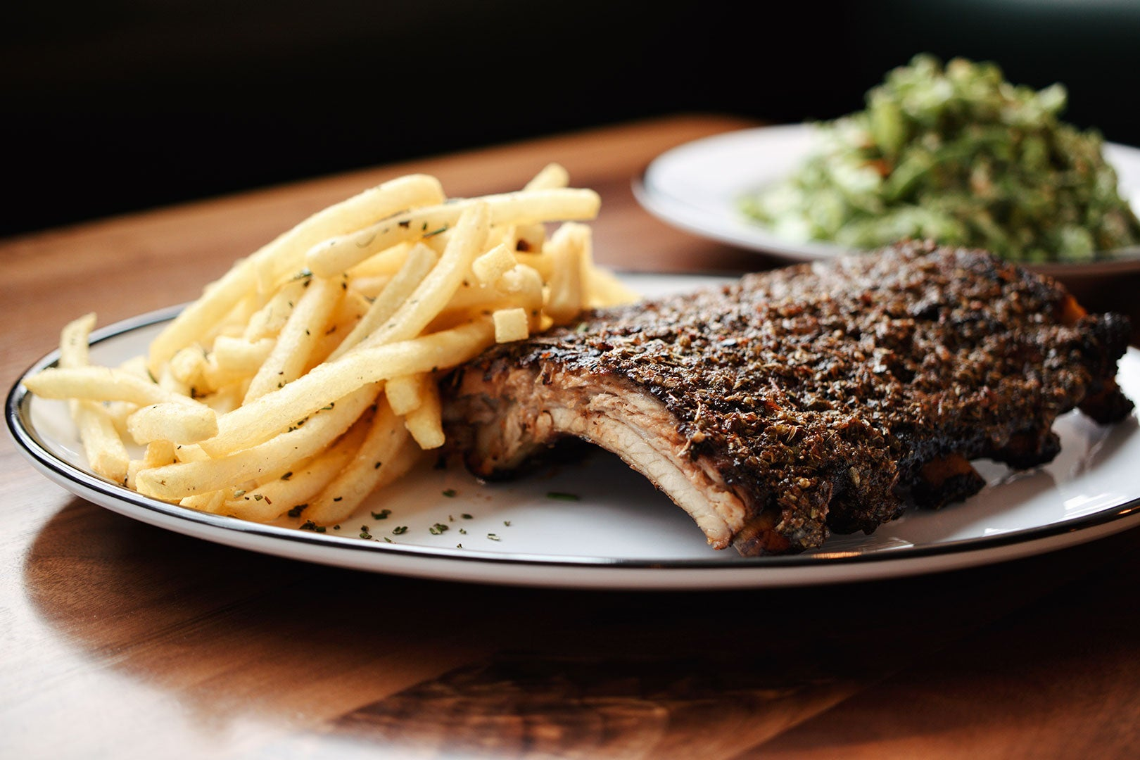 Grilled short rib with frites at Shy Bird