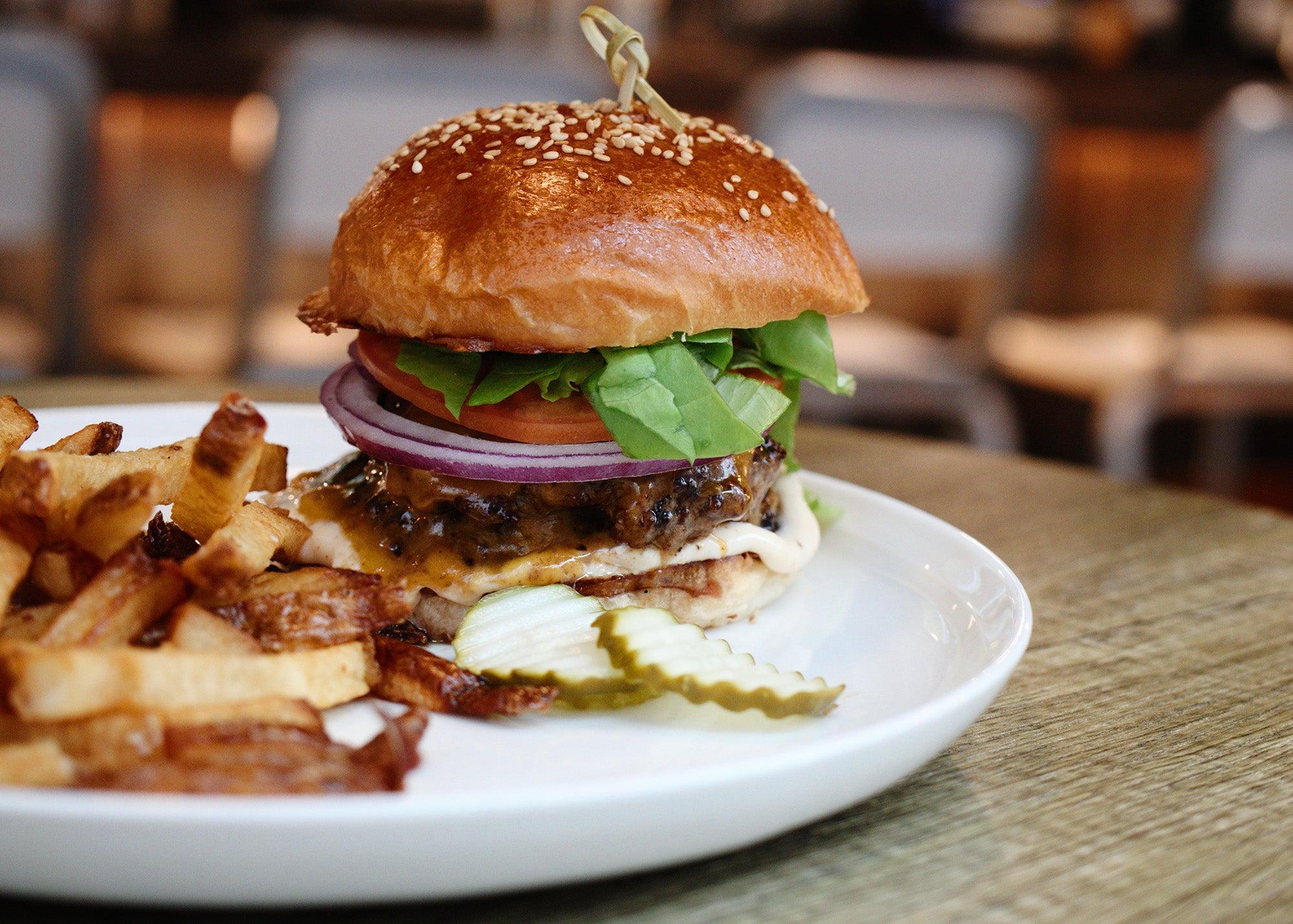 Flat patty burger at Stillwater
