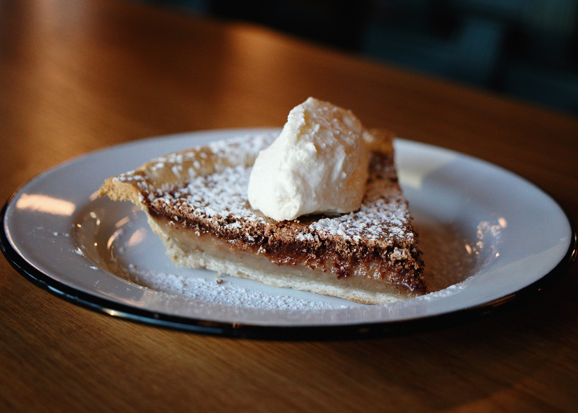 Chocolate chess pie at The Porch Southern Fare and Juke Joint