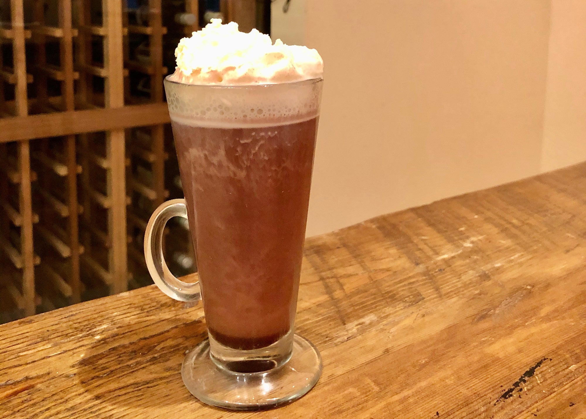 Chocolate hot buttered rum at Bistro du Midi