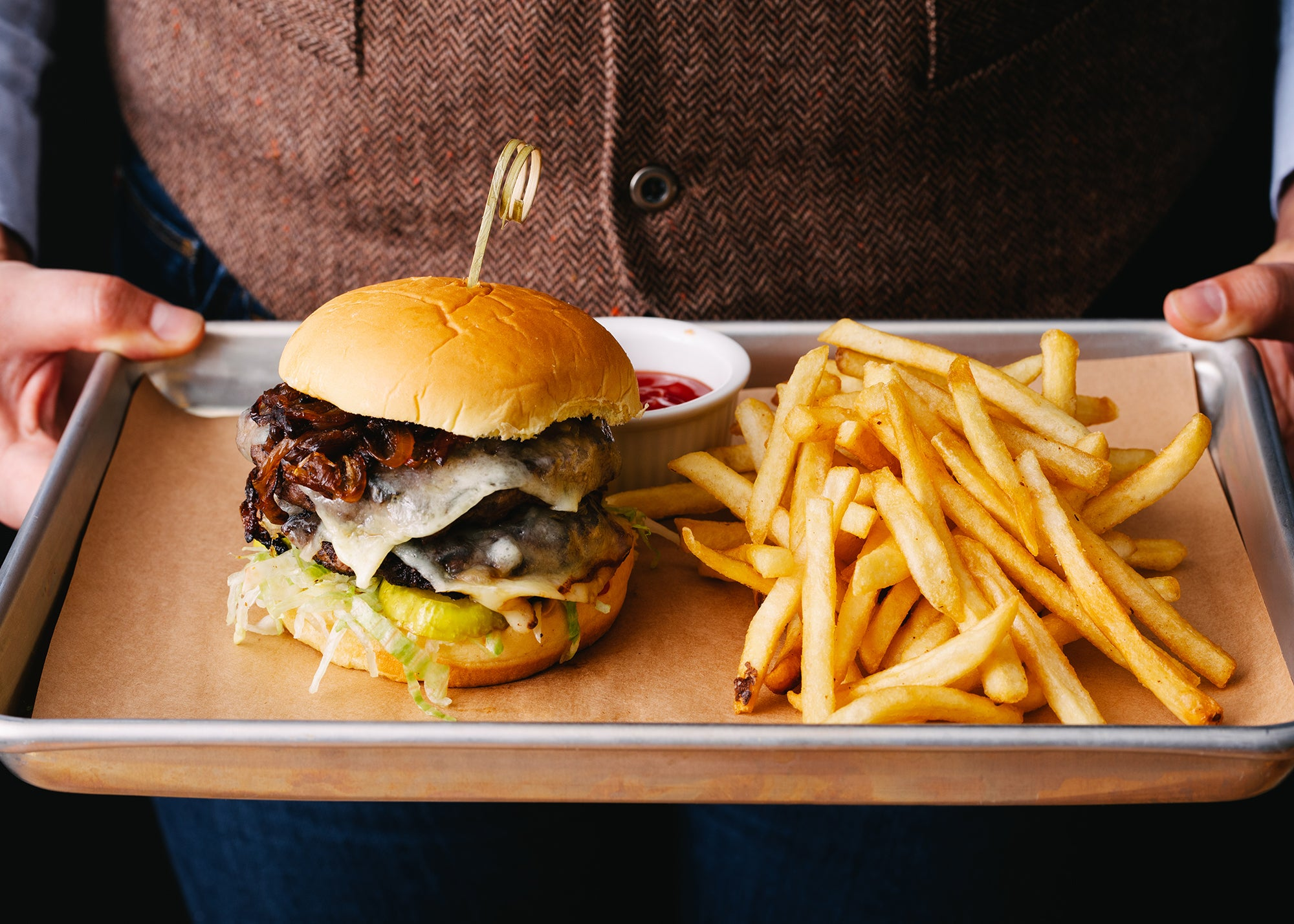 Doule Stack Burger at Banners