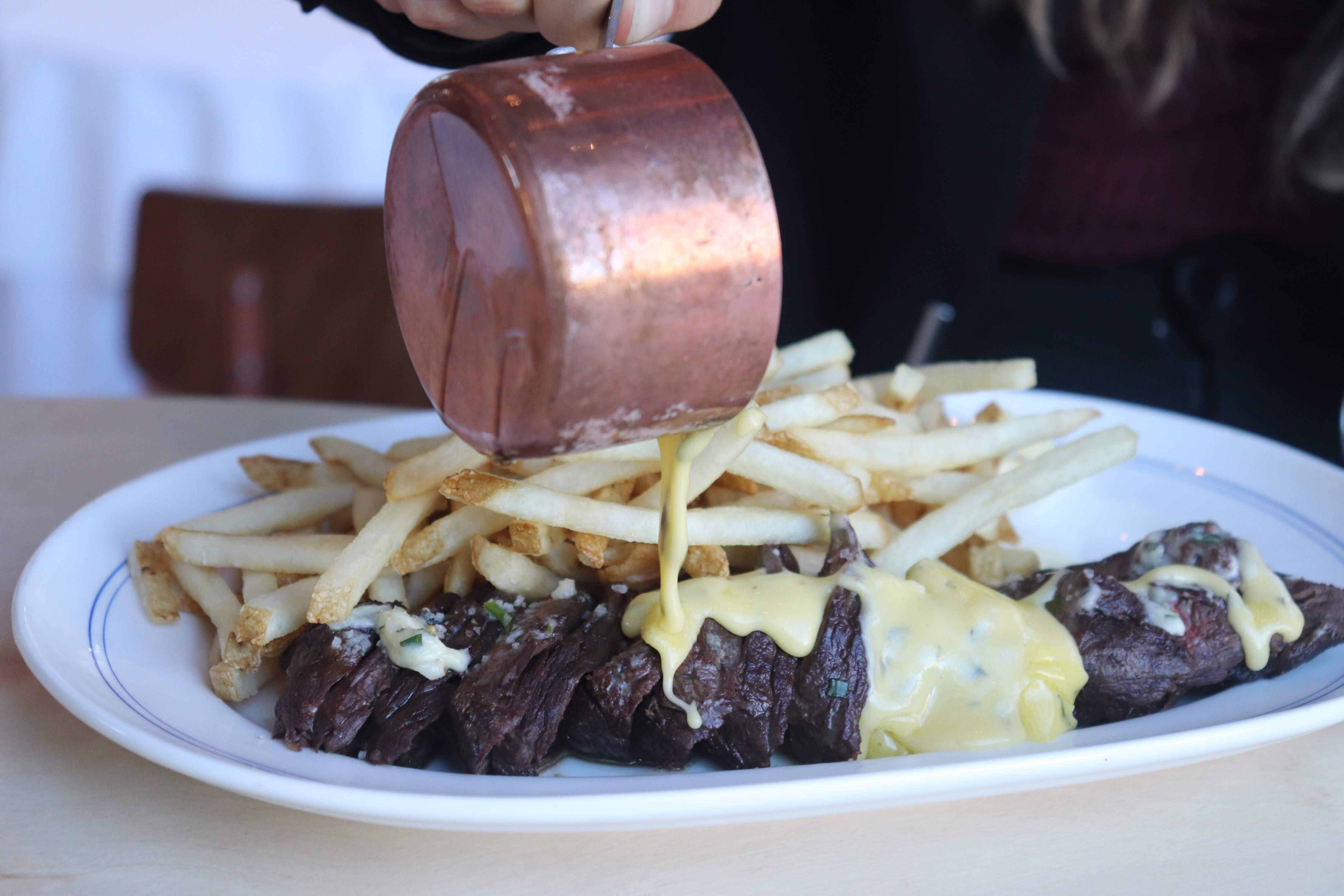 Hanger steak frites