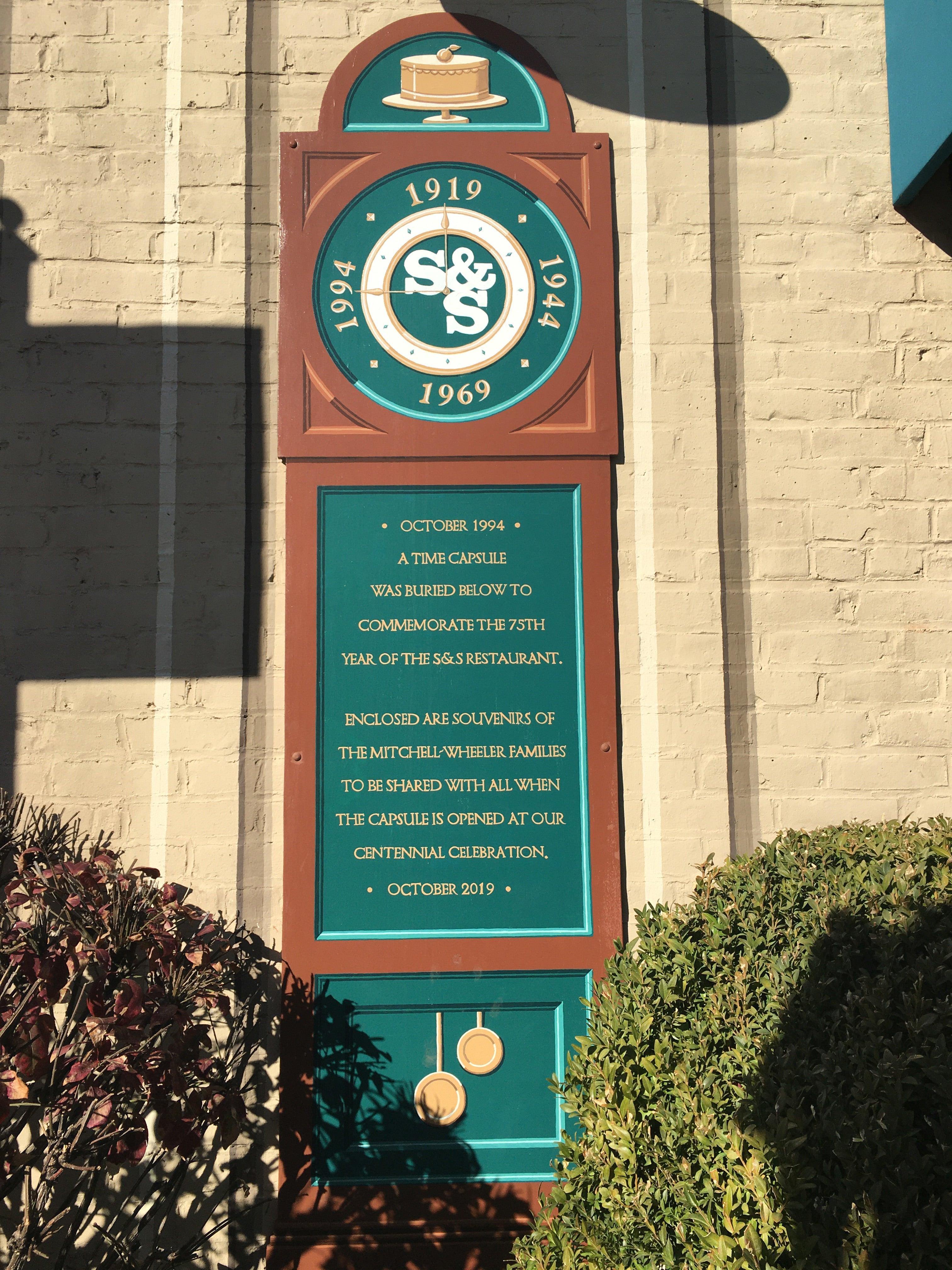 S&S time capsule plaque