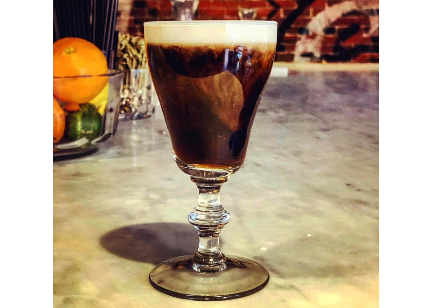 Irish coffee at Ward 8