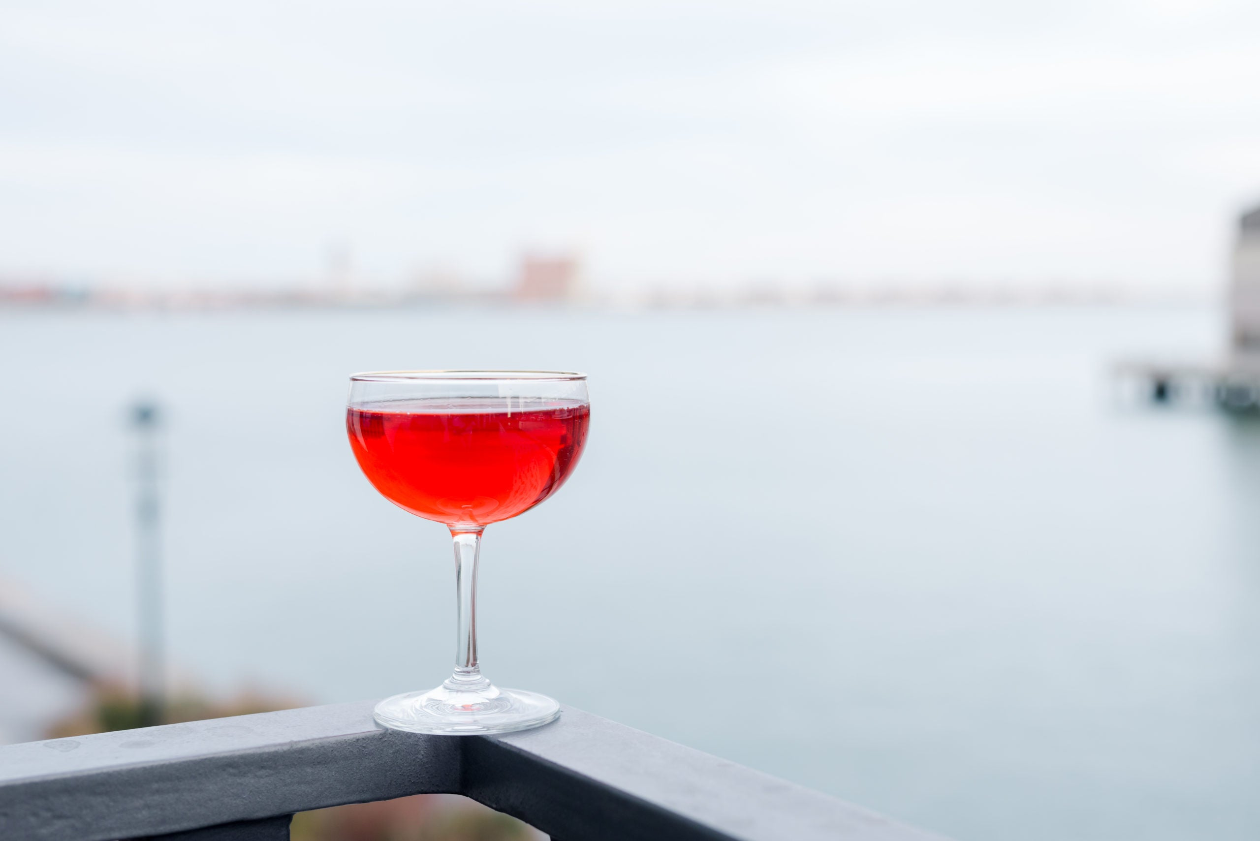 A cocktail and a view